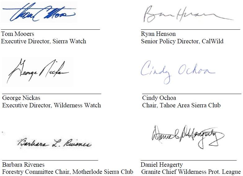 Signatures_Wilderness Letter