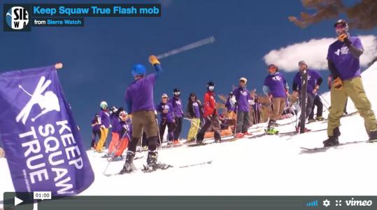 keep squaw true flash mob