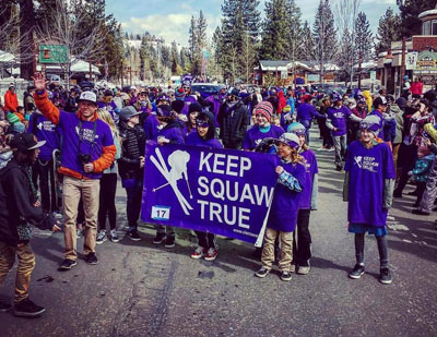 keep squaw true on parade