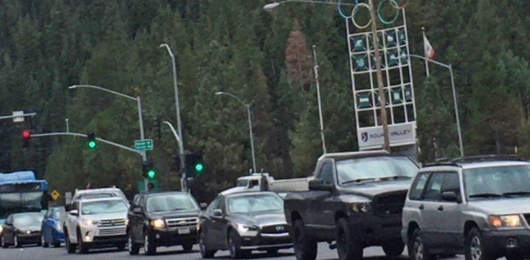 Squaw Valley traffic, Tahoe Traffic