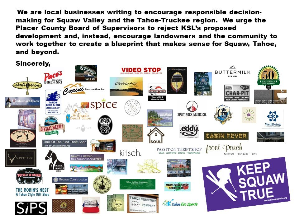 Keep Squaw True local business coalition