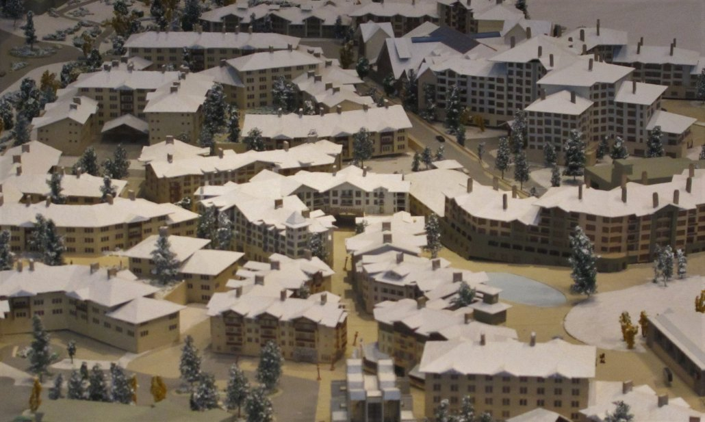 Squaw Valley Olympic Village model