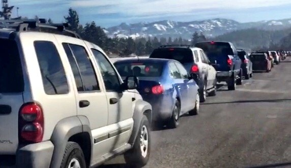 highway 89 to Squaw traffic