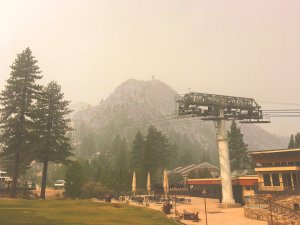 Smoke in Tahoe Squaw Valley